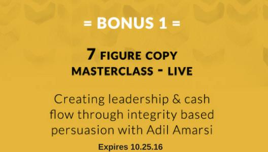 Bonus 1: 7 Figure Copy Masterclass