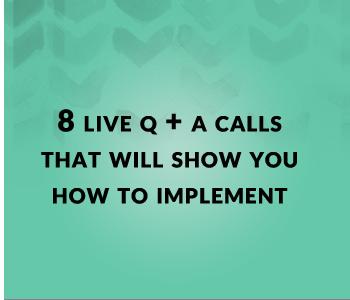 8 Live Q&A Calls