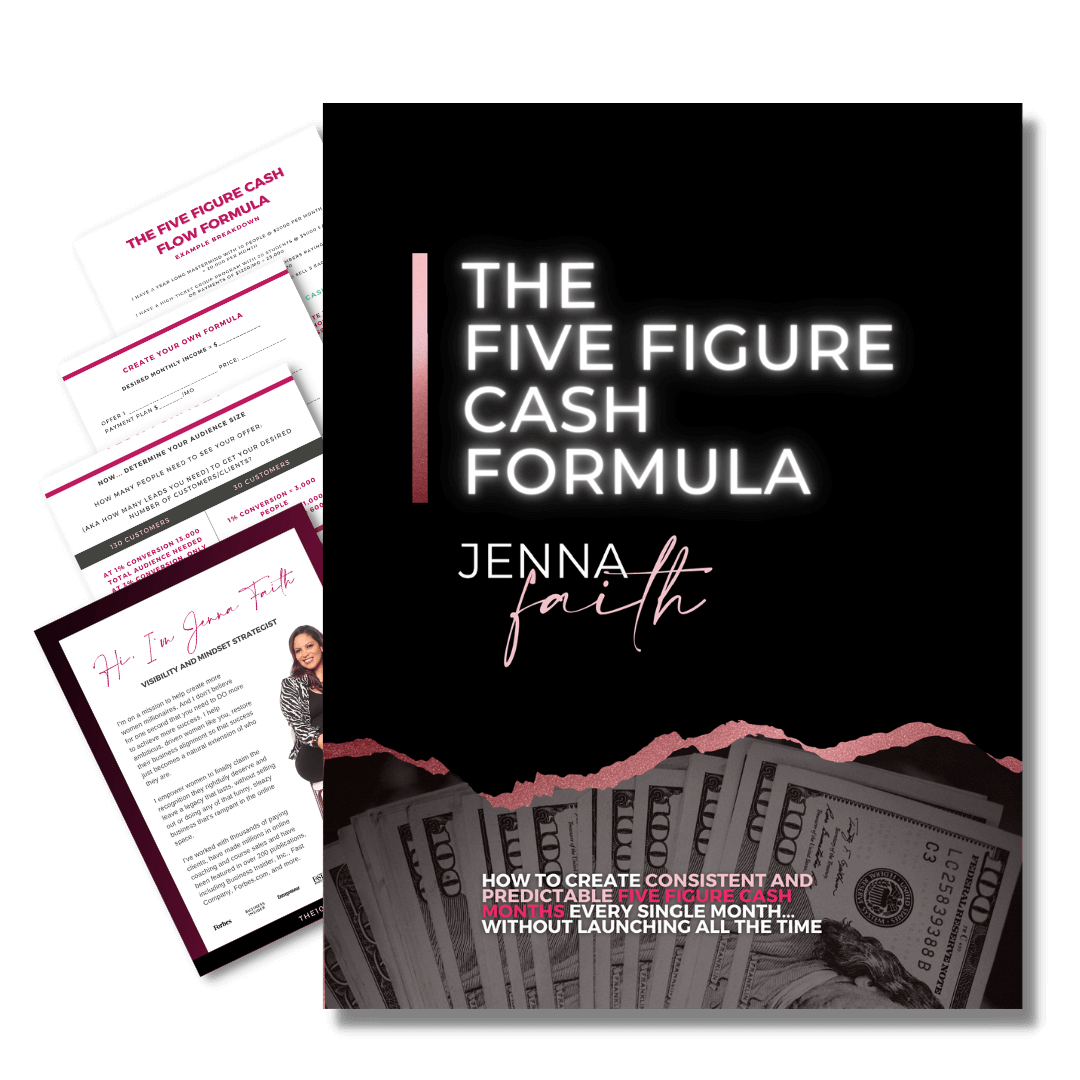 Get the formula to map out exactly how you will generate 5 figure months in your coaching business