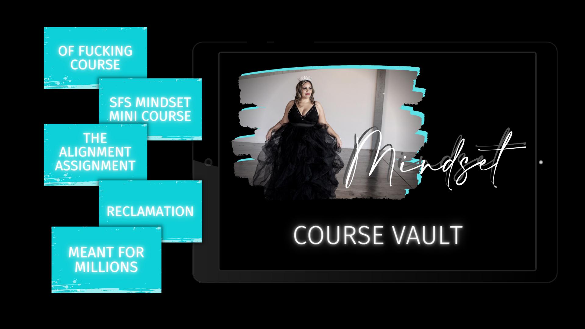 The Ultimate Mindset Course Vault for online entrepreneurs