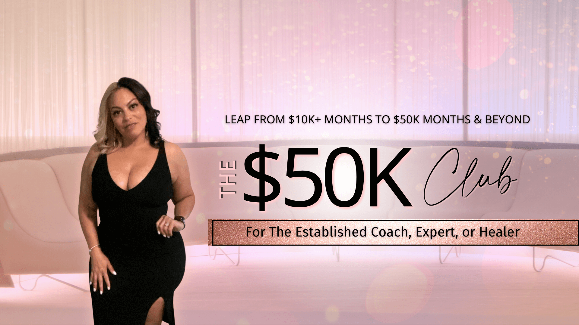 The $50K Club, the ultimate high level mastermind for established female experts to create sustainable online income